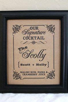 wedding signature drinks on pinterest signature drink