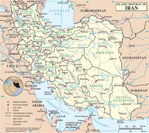 map of iran cities iran political map