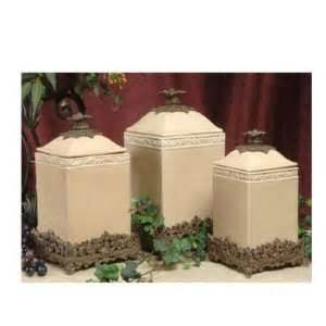 Designer Kitchen Canisters by Tuscan Old World Drake Design Large Black Kitchen