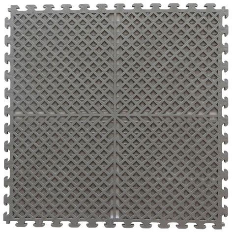 pattern drain tile norsk multi purpose 18 3 in x 18 3 in dove gray