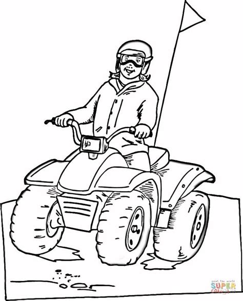 printable quad coloring pages riding on atv coloring page free printable coloring pages