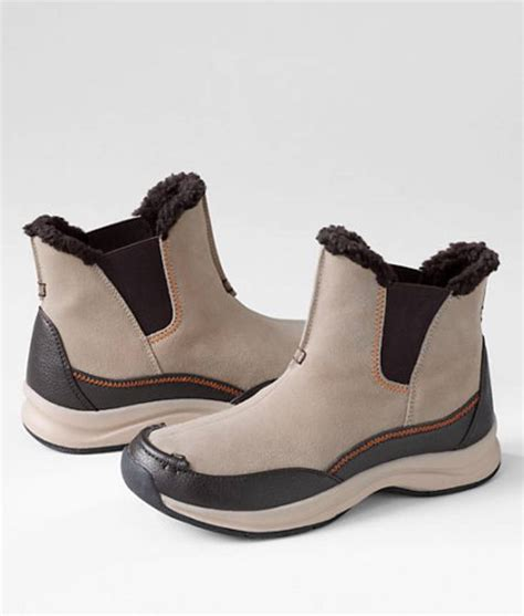 lands end boots lands end cold weather s shearling suede boots 70