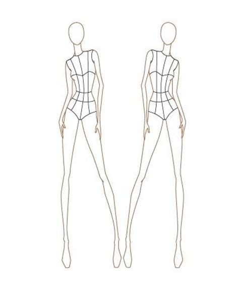 croquis i ll be using fashion templates pinterest