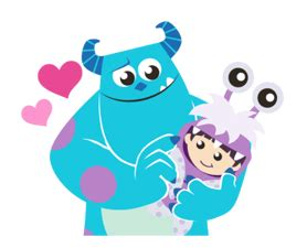 imagenes png de monster inc monsters inc animated talking pop up line stickers