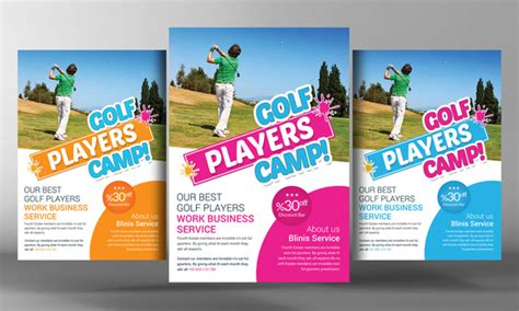 Golf Club Flyer Template Flyer Templates On Creative Market Golf Journal Template