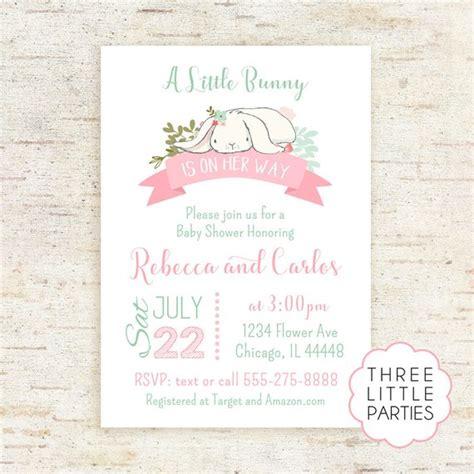 Rabbit Baby Shower Invitations by Bunny Baby Shower Invitation Baby Shower Invitation