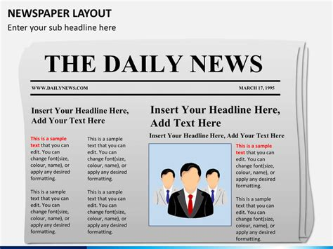 newspaper powerpoint template newspaper layout powerpoint sketchbubble