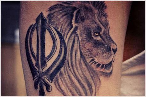 khanda lion tattoo designs 20 punjabi khanda tattoos
