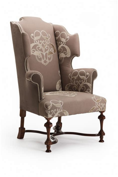 Leather Wingback Armchair Design Ideas Chair Design Ideas Great Winged Chair For Living Room Winged Chair Beige Beautiful Floral