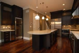 transitional kitchen in park ridge built in microwave