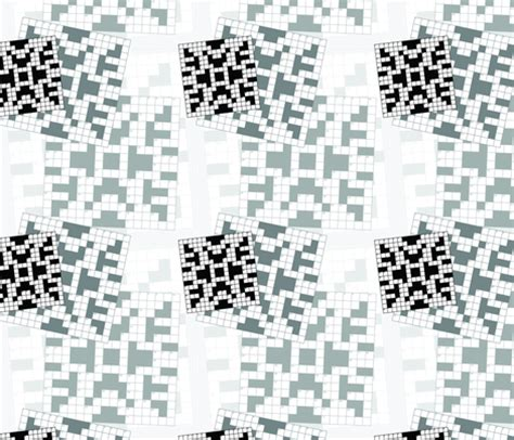 Upholstery Material Crossword Clue by Crossword Puzzle Fabric Studiofibonacci Spoonflower