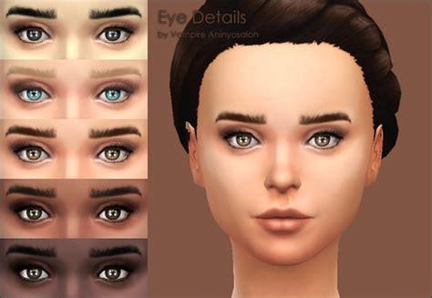 Burke Home Decor Mod The Sims Eye Details Eye Contour Eyelashes By