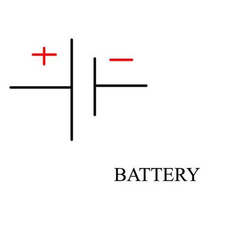 polarity symbols battery symbol in a circuit diagram circuit and