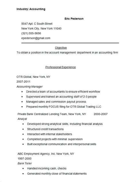 Sle Of A Resume Format by Format Of A Official Cv Formal Resume Format Resume