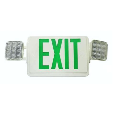 Exit Lighting Fixtures Lithonia Lighting Contractor Select Thermoplastic Led Emergency Exit Sign Fixture Unit Combo Ecr