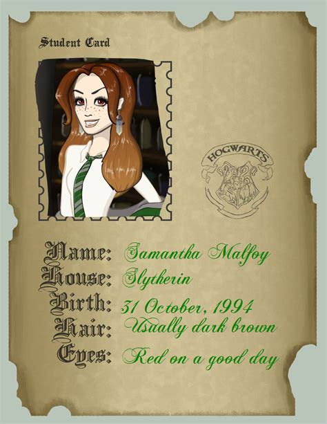 Deviant Student Id Card Template by Hogwarts Student Id Card By 3hellokittylittere On Deviantart