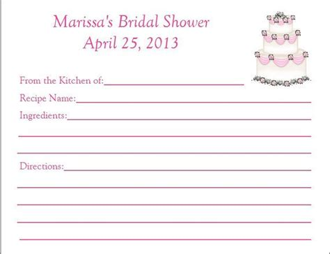 bridal shower recipe book template 17 best images about cards recipe on printable recipe cards printable templates and