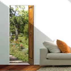 sticker de porte mon jardin beau sticker pour porte