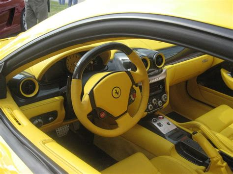 ferrari yellow interior ferrari 599 yellow and black interior carbon fiber auto