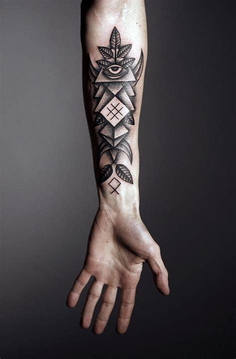 black arm tattoo design