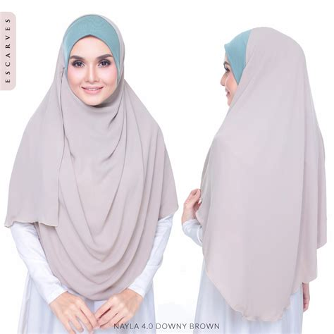 Nayla Scarf jualan escarves terbaru terkini shawl labuh nayla 4