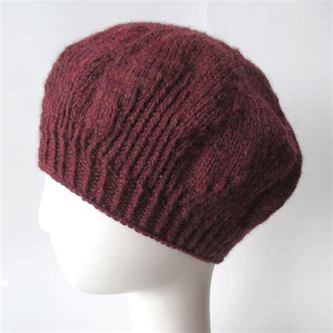 knitting pattern beret knit pattern ginger beret knits prints