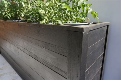 modern wood planter planter boxes harwell design fences driveway gates los angeles santa