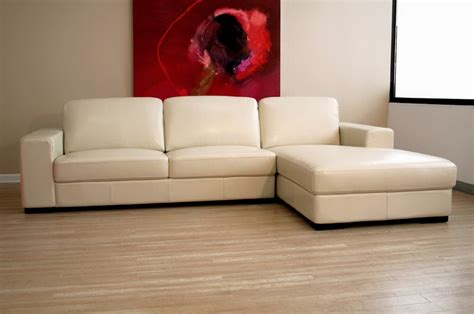 cream sectionals baxton studio cream leather sofa