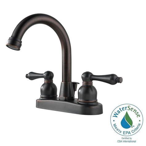 Arc Plumbing And Heating by Peerless Hi Arc 4 In 2 Handle Bathroom Faucet In