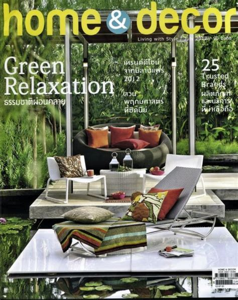 home decorator magazine thai company deesawat is featured in home decor magazine