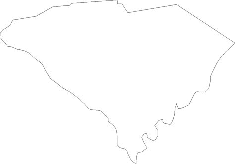 Carolina Outline by South Carolina State Outline