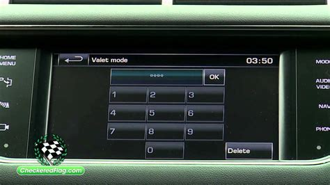 valet mode how to use valet mode in land rover range rover sport