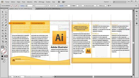 tutorial indesign gratuit d 233 pliant 3 volets recto verso tutoriel illustrator
