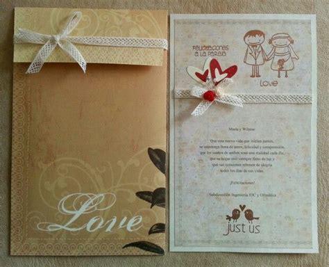 tarjeta de felicitacion matrimonio bodas
