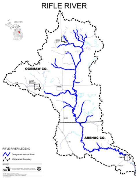 thames river fishing map dnr rifle river