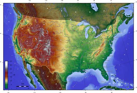 united states altitude map landkarte usa landkarten gt usakarte usa