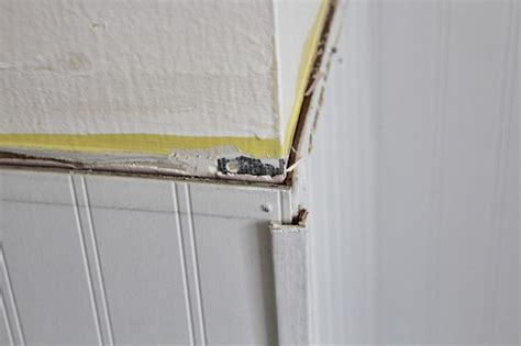 how to finish wainscoting corners working with a bad beadboard installation house for six