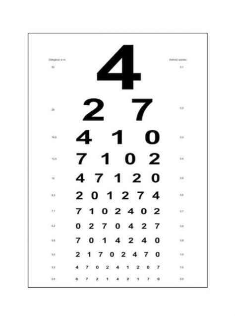 printable eye chart numbers snellen chart in number snellen eye chart ratelco com