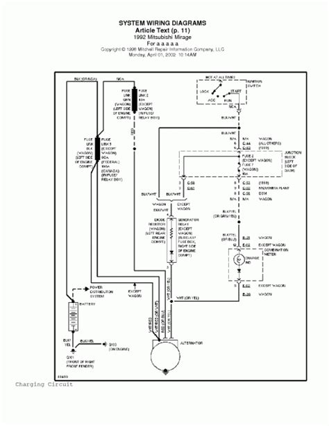 pdf ebook 1992 mitsubishi mirage system wiring diagrams