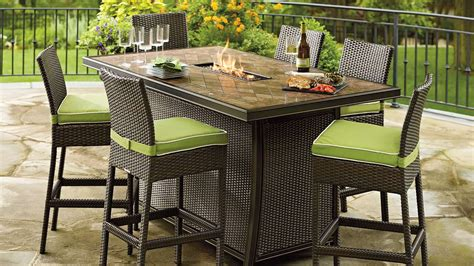 Outdoor Patio Set With Fire Pit   FIREPLACE DESIGN IDEAS