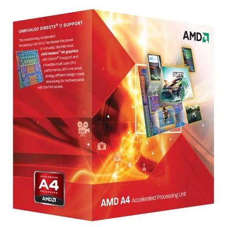 Amd A4 4020 Radeon Hd7480d 3 2ghz Cache 1mb 65w Socket Fm2 amd a4 4020 dual 3 2ghz fm2 radeon hd 7480d 1mb 65w processor ad4020okhlbox ccl computers