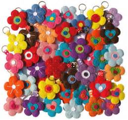 felt flower keychains with tutorial miscellaneous topics