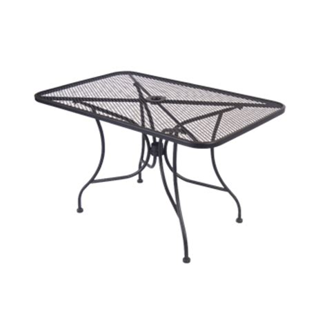 Patio Table Length Tbd Mesh Wrought Iron Outdoor Table Size 30 215 48