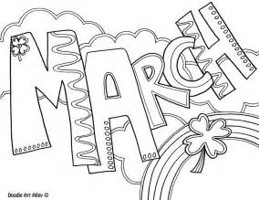 march color months of the year coloring pages classroom doodles