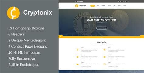 Cryptonix Cryptocurrency Mining Html Template Theme27 Just Free Themes Cryptocurrency Html Template Free
