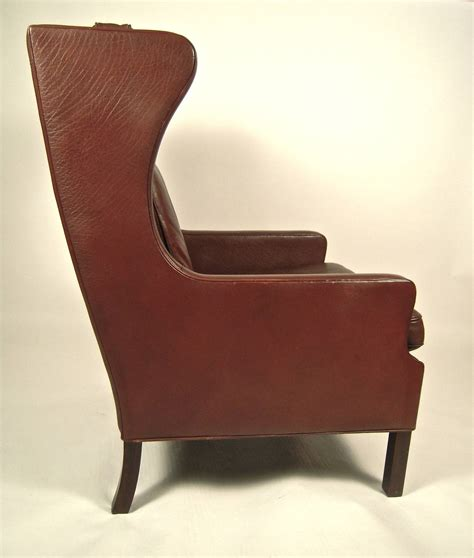 mid century leather chair vintage danish mid century leather wingback chair at 1stdibs