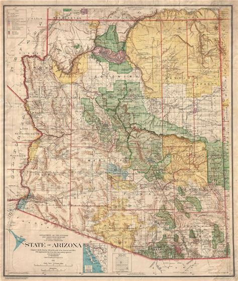 State Of Arizona Records State Of Arizona Compiled Chiefly From The Official Records Of The General Land Office