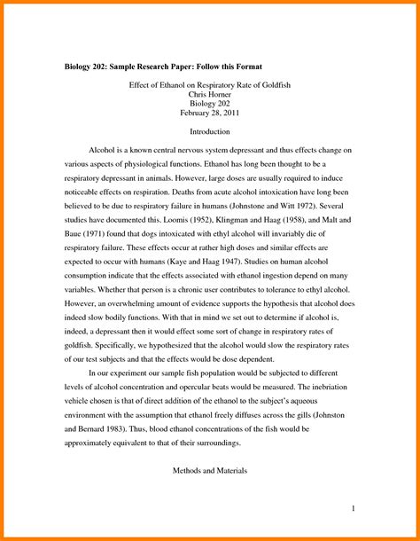How To Make A Research Paper Exle - 7 research paper sle for high school park attendant