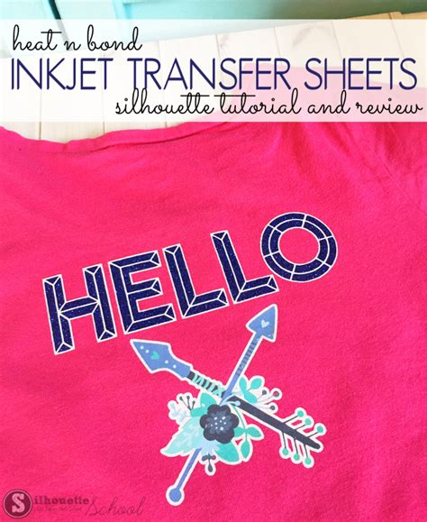 latex printable heat transfer vinyl using heat n bond inkjet transfer sheets with silhouette