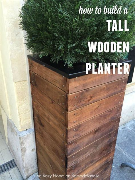how to build a wooden planter box 25 best ideas about wooden planters on wooden